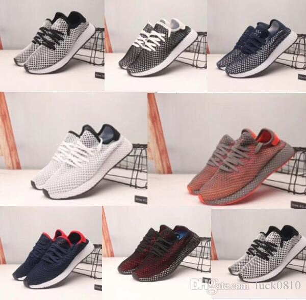 f5939a20bbf6b 2019 Deerupt Runner Shoes Spring New Style Designer Mens Mesh Running Zapatos  Trainers Chaussures Balck And White Girls Boys Sneakers 36 45 Sneakers Sale  ...