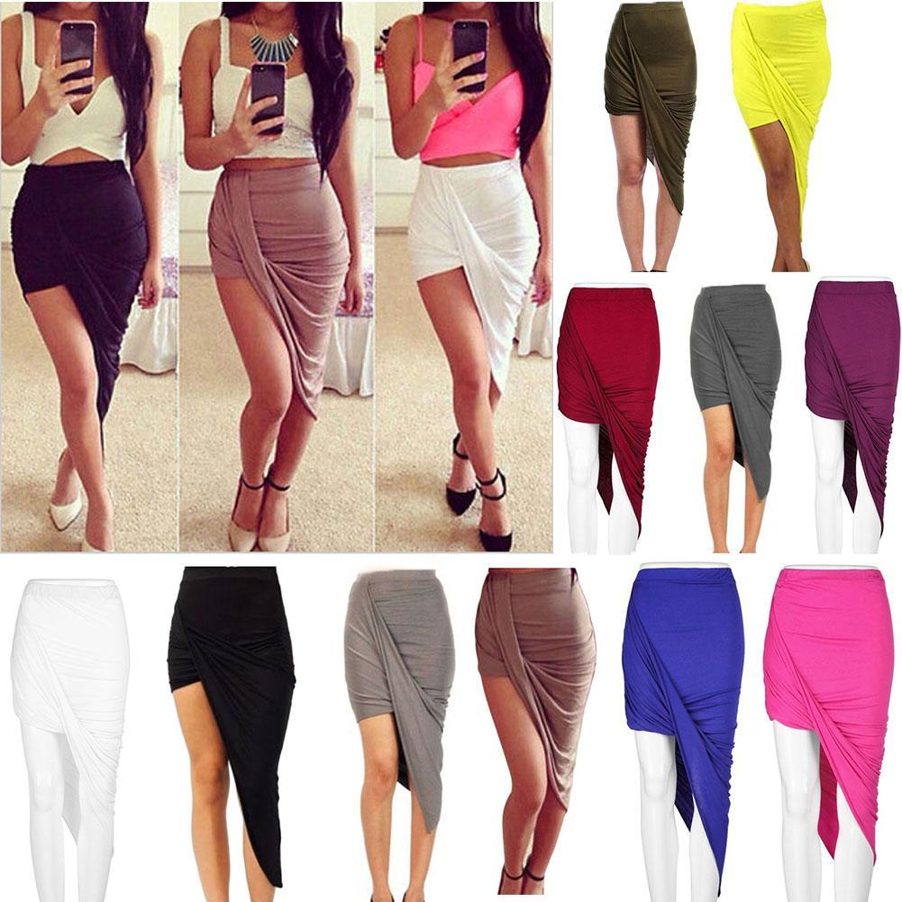 cc12343a7a 2019 Summer Women Skirt Hem Cross Fold Sexy Wrap Banded Waist Draped Women  Skirt Cut Out Asymmetrical Pencil Skirts From Sebastiani, $66.94 |  DHgate.Com
