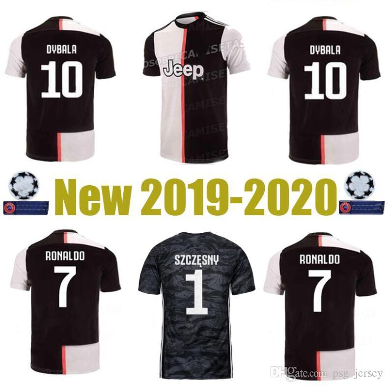 32304e663 2019 New Thailand 19 20 S 3XL RONALDO Juventus Champions League Soccer  Jerseys DYBALA Sports Football Kit Shirt MEN Camiseta De Football Shirt JU  From ...