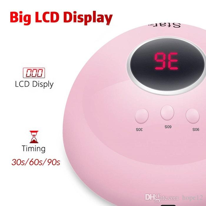 10pcs DHL UV lámpara de uñas para manicura LED secador de esmalte de uñas lámpara de hielo con 12 piezas de LED 30s / 60s / 90s Auto Sensor Nail Art Tools