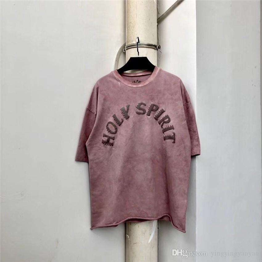 19SS T-shirt Kanye West Sunday Service Spirito Santo CPFM Top Tee Stile estivo Cotone hip-hop di Casaul T-shirt Kanye West