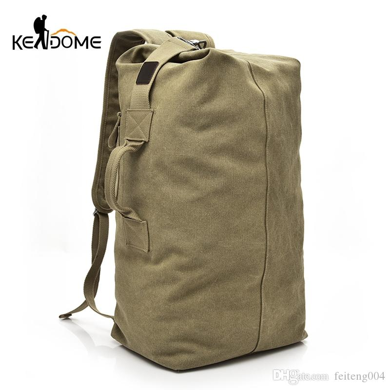 ae0c38505d 2019 Large Capacity Men Women Travel Bag Military Tactical Climbing  Backpack Army Bags Canvas Bucket Shoulder Sports Bag Male XA595WD  108499  From ...