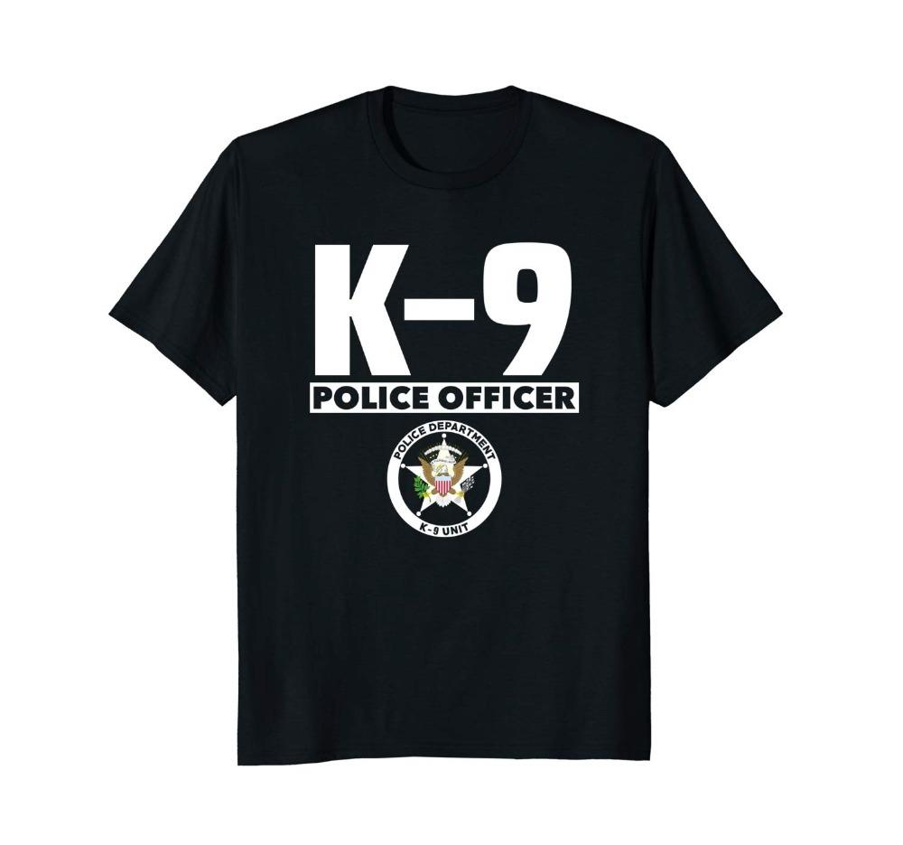 K-9 Police Officer T-Shirt Cops Law Enforcement T Shirt Uomo 2019 New Hipster manica corta T-shirt uomo