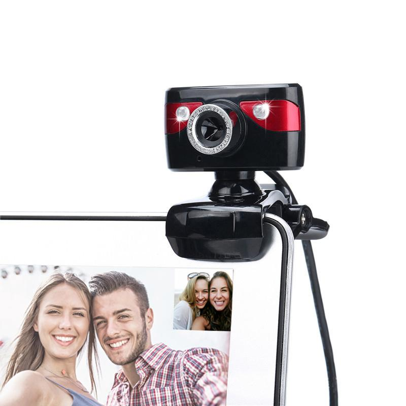 HD Webcam 12.0M Pixels 2 LED 360 Degrees Rotatable Computer Web Camera A886 Built-in Microphone For PC Laptop Camcorder New Arri