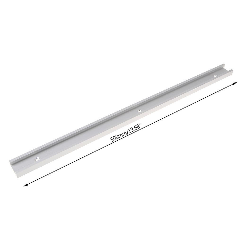 0.5m en alliage d'aluminium T-rail à bois T-slot à onglet Piste Jig Fixation Tableau Routeur