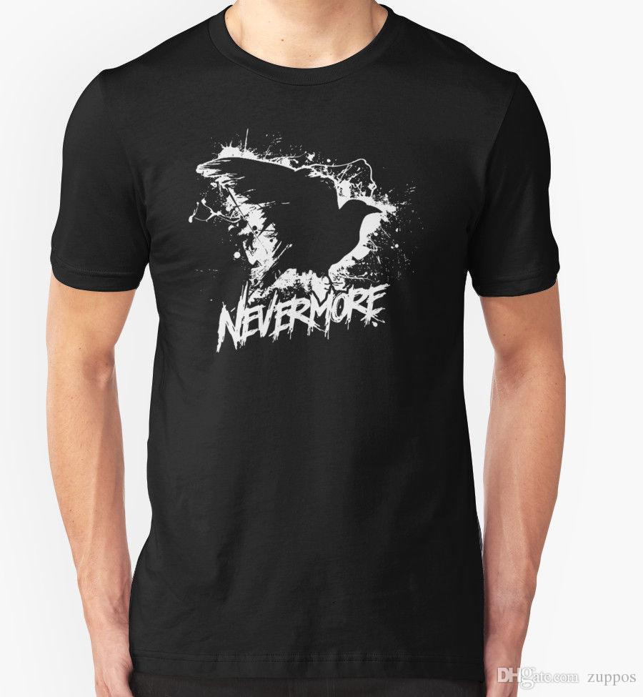 72242b26 NEVERMORE T SHIRT TOP HEAVY METAL MUSIC Custom T Shirts T Shirt Printing  From Jie79, $14.67  DHgate.Com