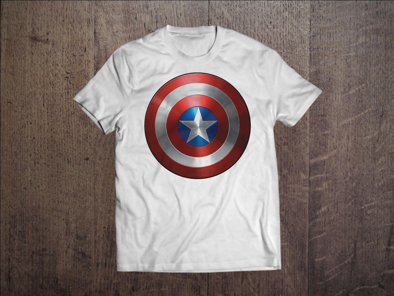 women bright n colour authentic quality Captain America Men White T-shirt Marvel Tee The Avengers T-Shirt Comics  Shirt Men Women Unisex Fashion tshirt Free Shipping black