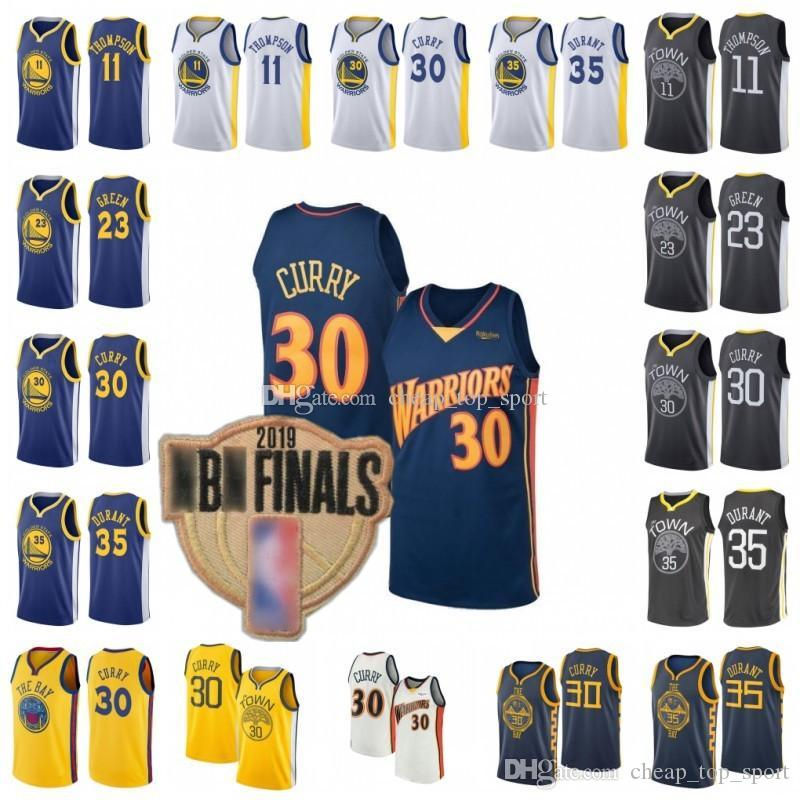 buy popular fb71f e1f4f 2019 Finals patch retro mens Kevin Golden 35 State Jersey Warriors Durant  30 Stephen Jersey Curry Basketball Jerseys Klay 11 Thompson