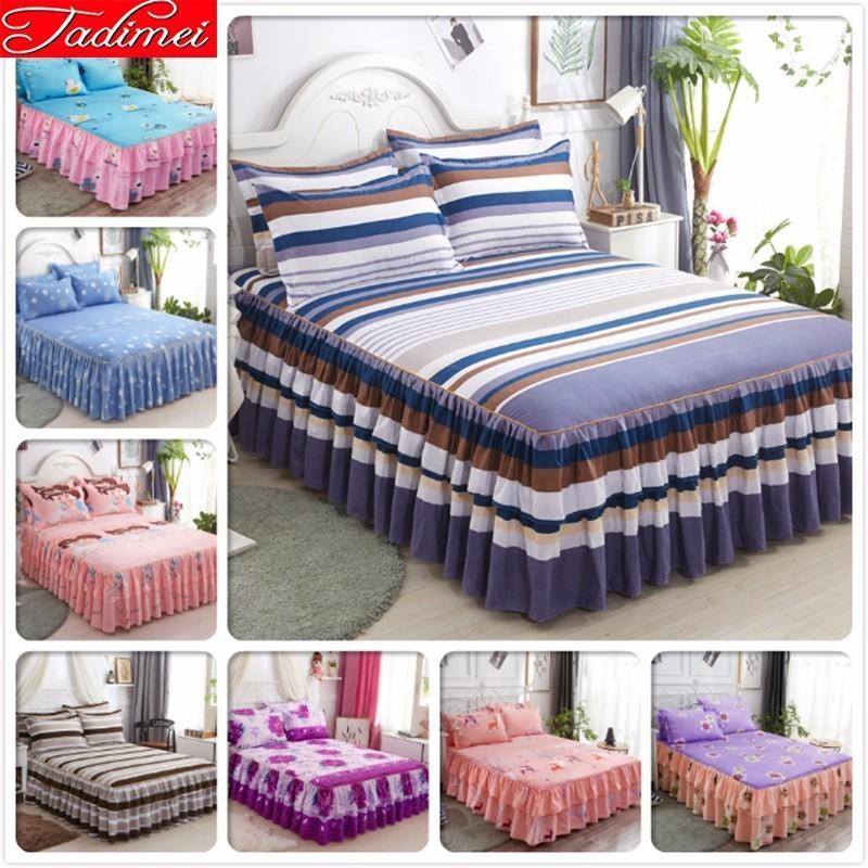 Single Twin Full Queen King Size Couple Adult Kids Child Boy Girl Bed Skirts Bedspreads Bedskirt Bed Cover Linen 180x200 200x220