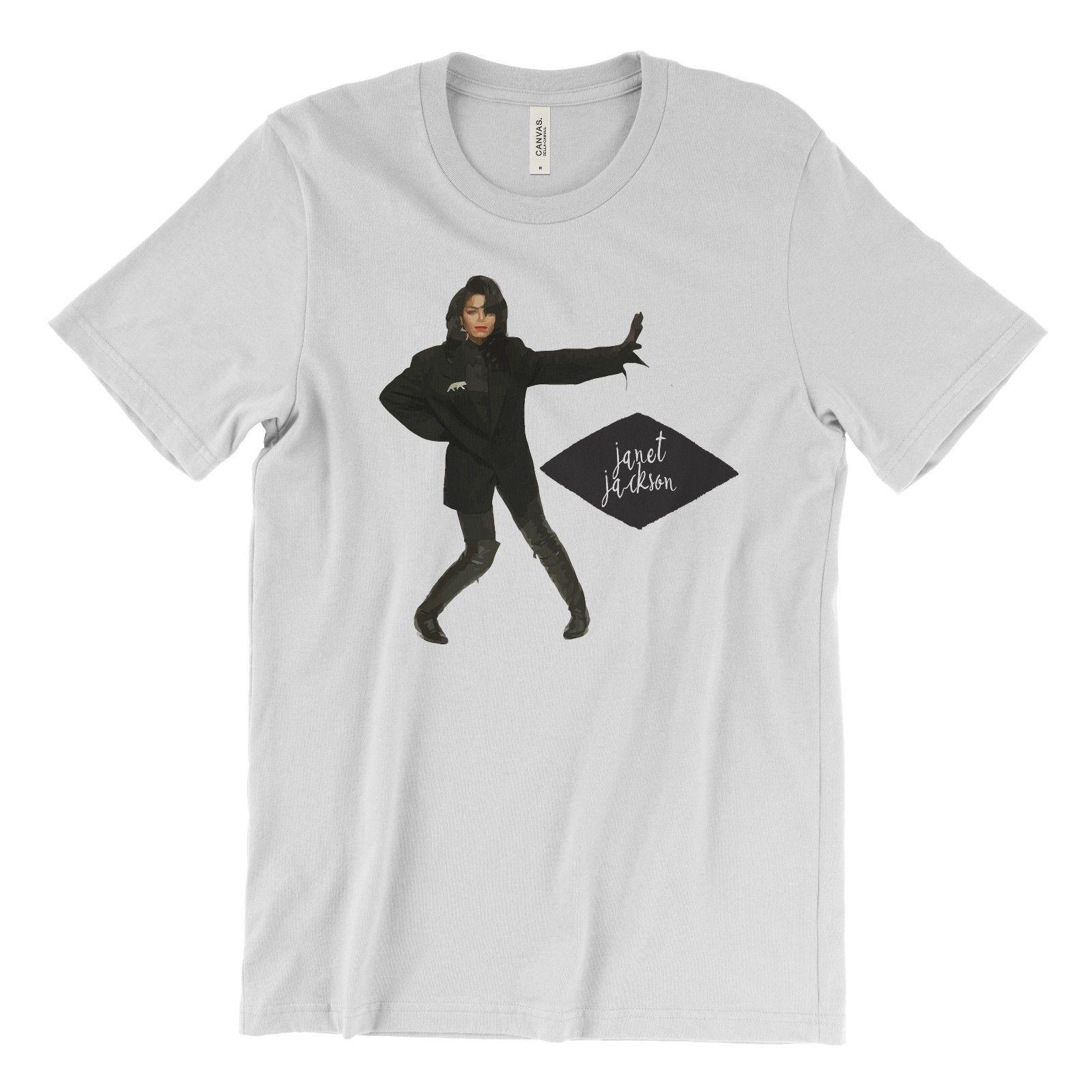 2e81f5a8 Janet Jackson T-Shirt 90's R&B World Tour Rhythm Nation When I Think of You  white black grey red trousers tshirt