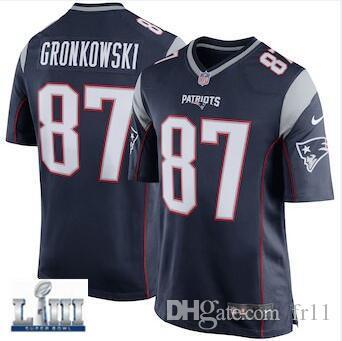 abb3e538c Tom Brady Rob Gronkowski Jersey Patriots Julian Edelman Super Bowl ...