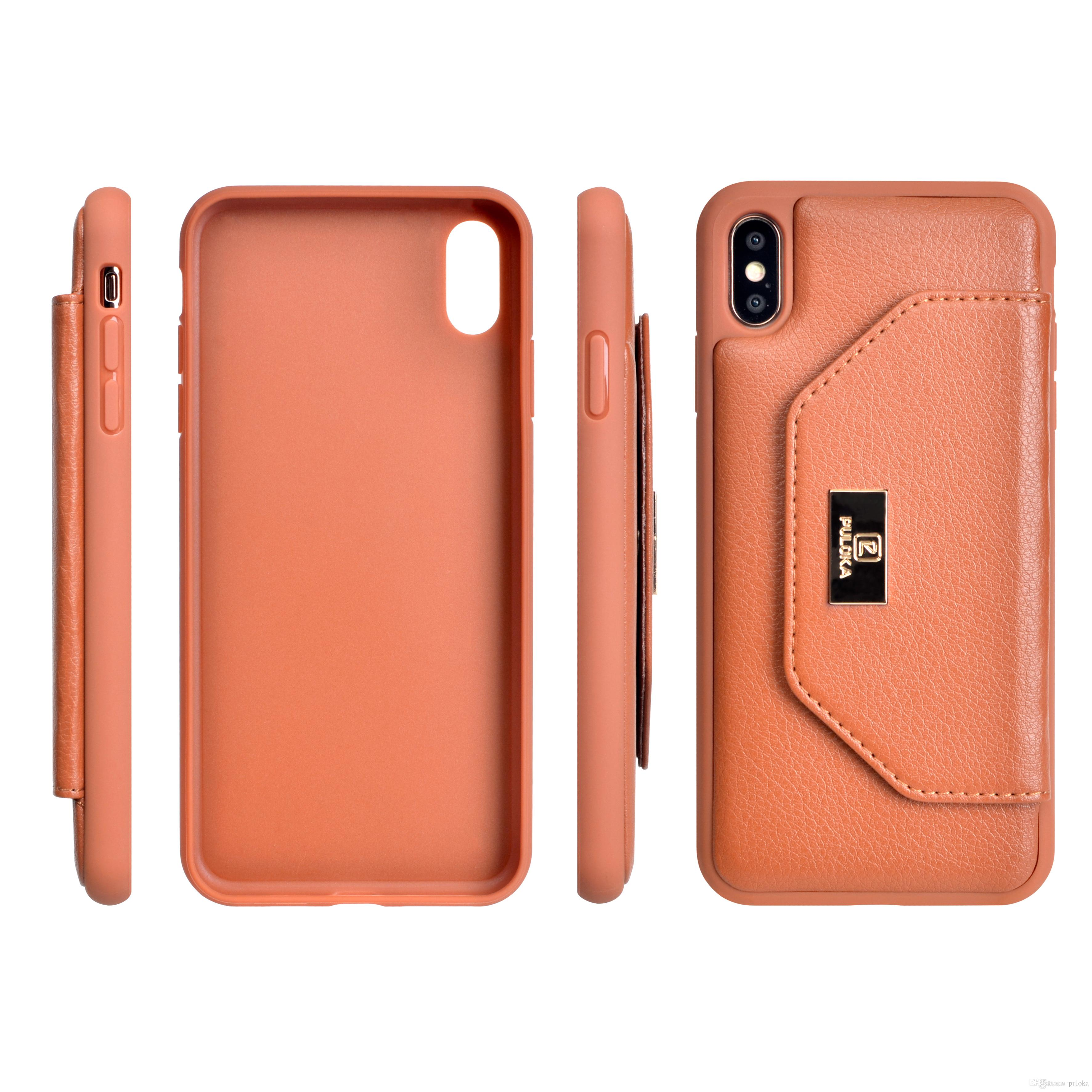 premium selection 4de9a cc2e0 Business Mobile Accessories PU Holder Back Cover Kickstand Phone Case shell  for iPhone X XS MAX