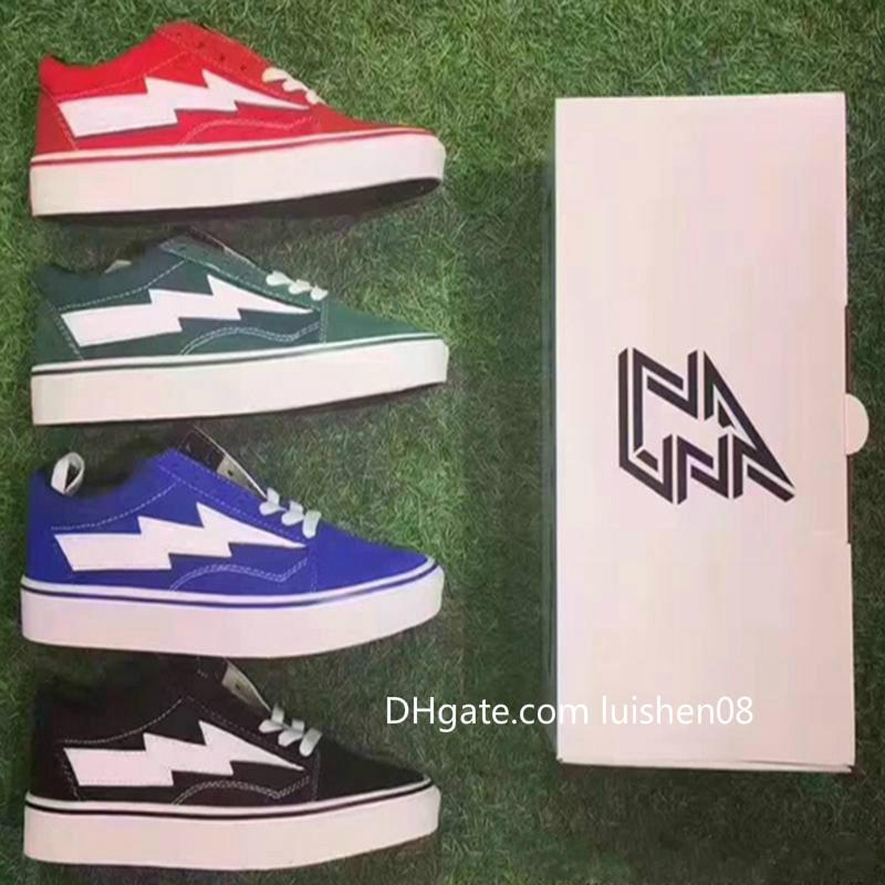 With Box New Arrival Revenge X Storm Old Skool Men Women Running Shoes Classic Black White Red Blue Light Sports Shoes Sneakers 36-44 v3