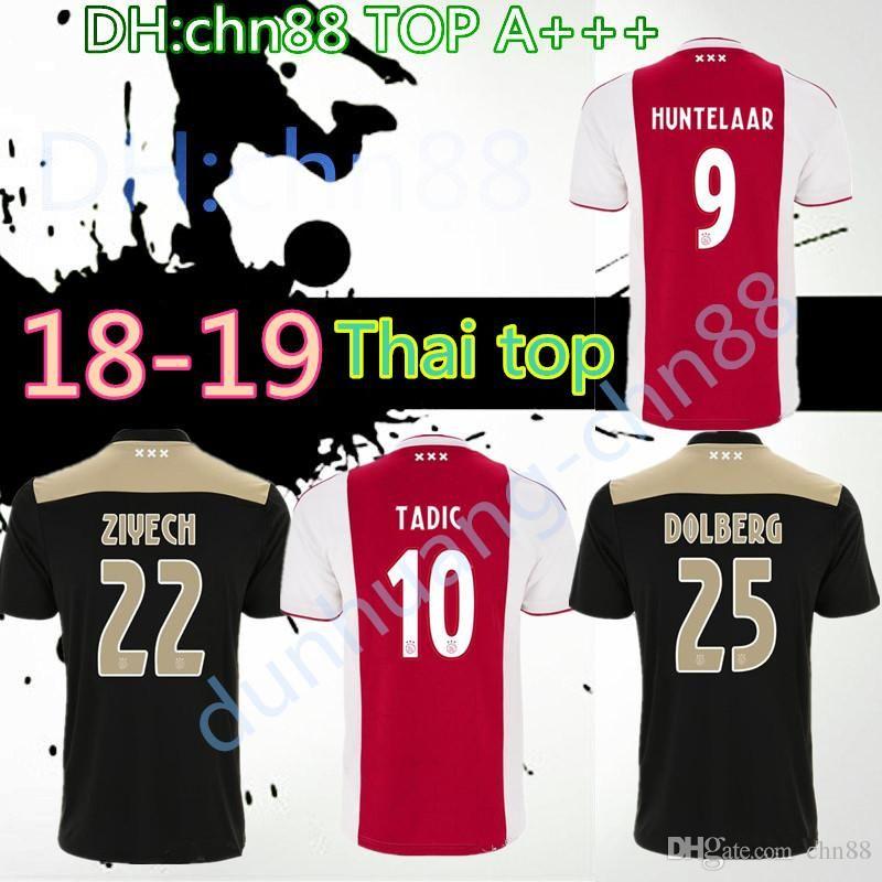 6354f0e16 Thai Quality 2018 2019 Ajax FC Away Home Soccer Jersey 18 19 ...