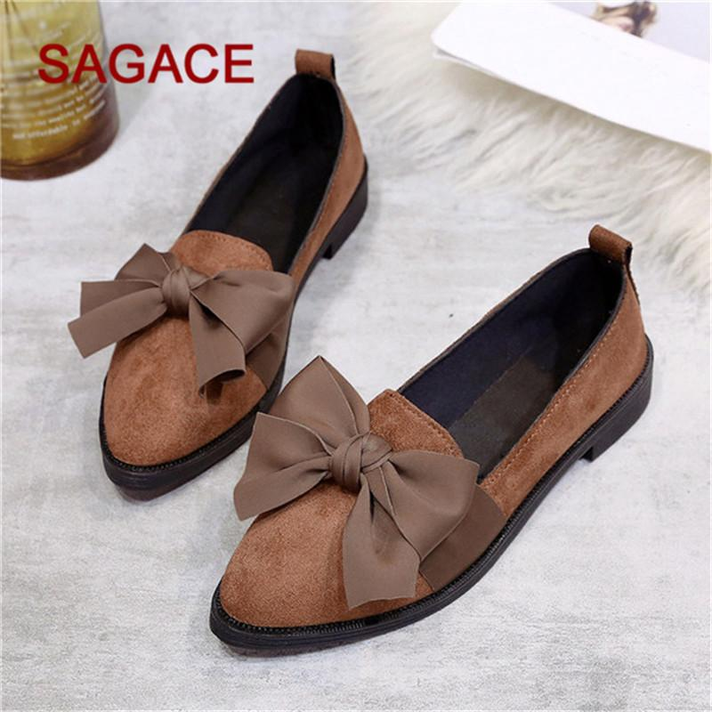 Designer Dress Shoes Hb@sagace Ladies Pumps Women Pointed Toe Flock Slip-on Square Heel Jobs Single Bow Zapatos De Mujer