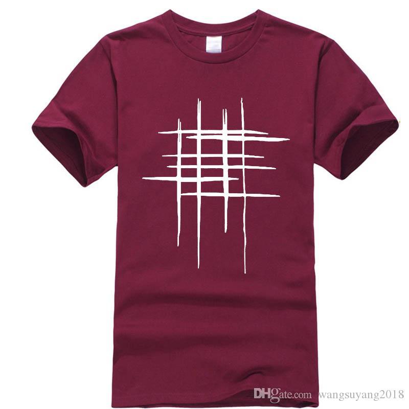 Compre Simple Línea De Diseño Creativo Con Estampado Cruzado De Algodón  Camisetas Hombre Recién Llegado Estilo De Verano De Manga Corta Camiseta De  Los ... 89c706ec41f7b