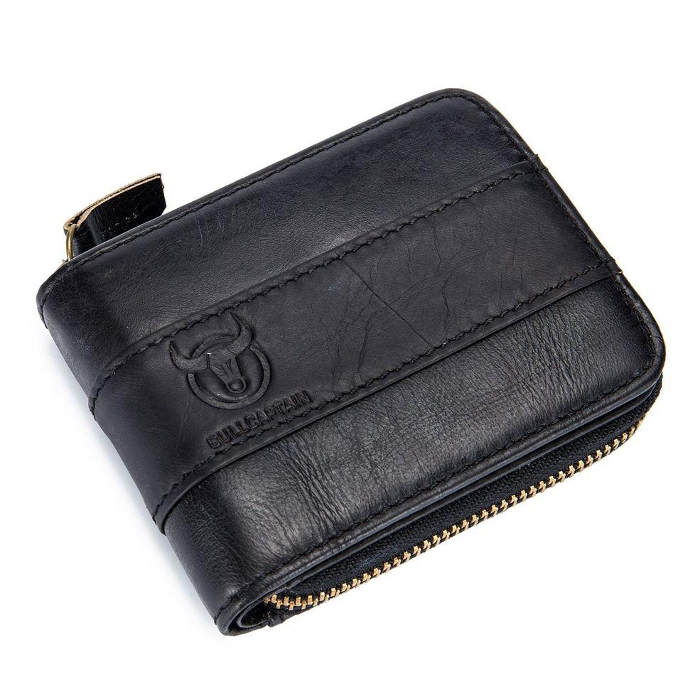 ABDB BULLCAPTAIN Genuine Leather Men Wallet RFID Blocking