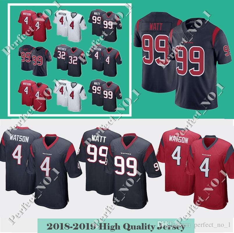 2018 Men S Houston Texan 4 Deshaun Watson 99 J.J. Watt 32 Tyrann Mathieu  Jersey 90 Jadeveon Clowney Limited Jerseys From Perfect no 1 9faab74de