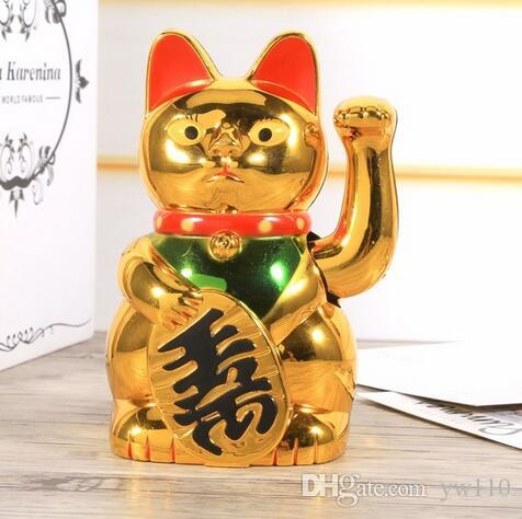 Chat chanceux chinois richesse agitant chat or agitant main feng-shui chanceux maneki neko mignon décor à la maison bienvenue agitant chat en gros