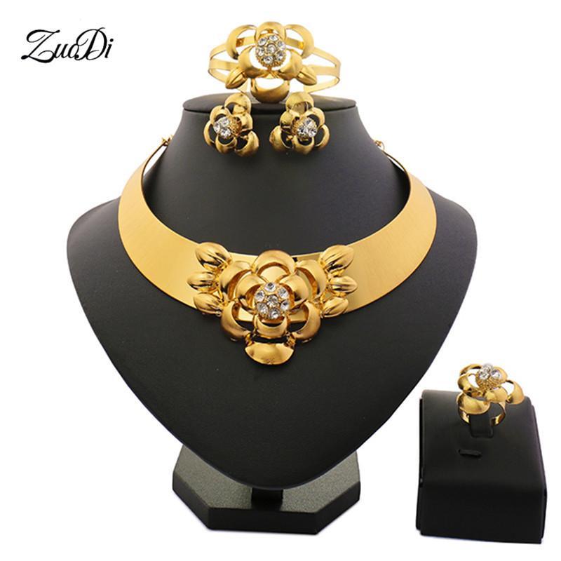 ead56851a501 Compre Zuodi Nigeria Boda Accesorios Para Mujer Joyería Conjunto Marca  Conjuntos De Joyería Italiana Para Mujer Dubai Conjunto De Oro Al Por Mayor  A  22.17 ...