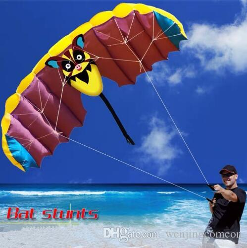 1.4M Soft Bat Design Kites Dual Line Stunt Sport Parafoil Kite With Flying Tool Set Outdoor Sports For Fun