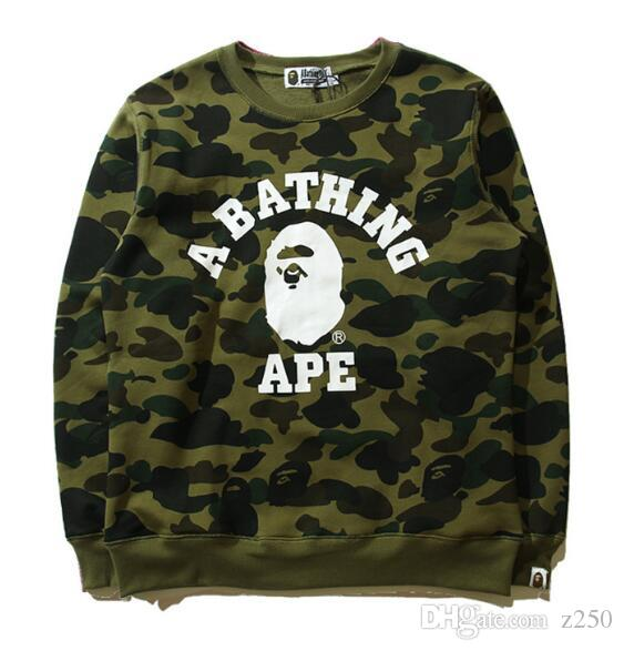 2018The NewWholesale-Mens Hip Hop Streetwear Hooded Camo Print Hoodies and Sweatshirt Fashion Autumn Coat 92