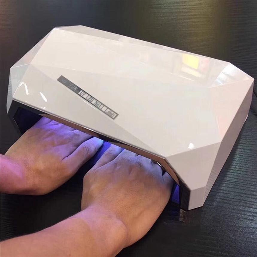Diamond Shaped 72W Two Hand Nail Dryer Double light LED Nail Lamp UV Lamp Curing All Gel Polish Tool With Auto Sensor EU/US Plug D18120801