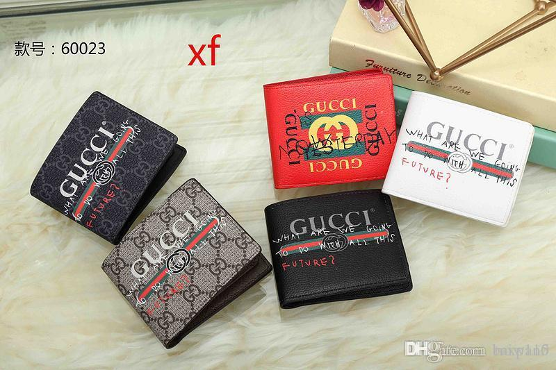 2018 new best quality men leather brand classic luxurys wallet casual short paragraph designers cardholder pocket fashion wallet men