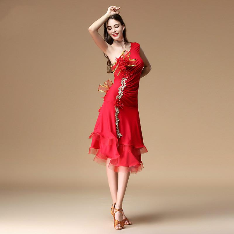 fd57d1f19 Nueva Moda Mujeres Vestido de Baile Latino Etapa Competencia Traje de  Práctica Vestimenta femenina Salón de Baile Rendimiento Desgaste