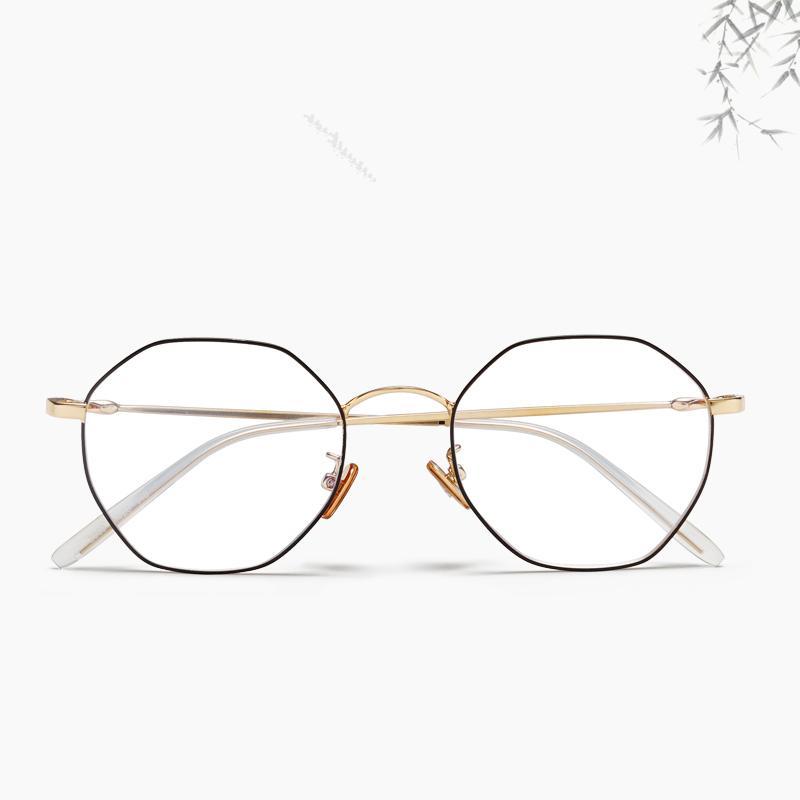 faf4ee42c2c5 2019 New Designer Glasses Optical Frames Metal Round Glasses Frame Clear  Lens Eyeware Black Silver Gold Eye Glass Unisex From Junemay
