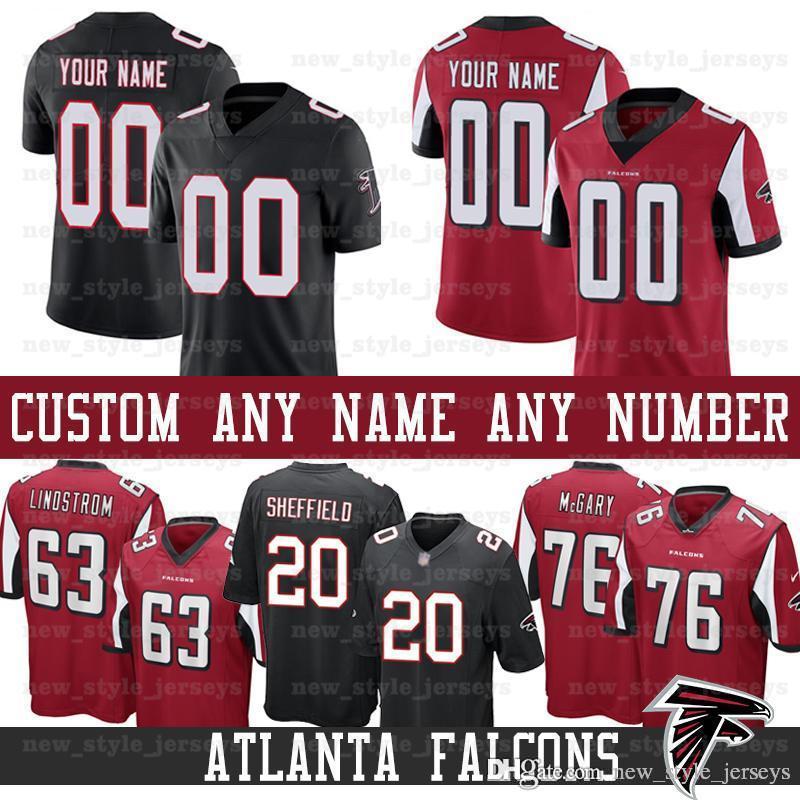 best service dc426 55573 custom Atlanta Men Falcons Jersey 63 Chris Lindstrom 45 Deion Jones 76  Kaleb McGary 20 Kendall Sheffield 50 John Cominsky Football Jerseys