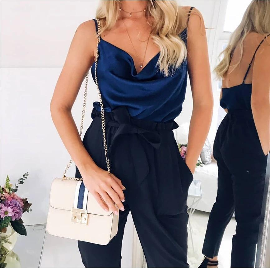 Sexy Women Tops Solid Color Adjustable Strap Vest Multi-color Bottoming Shirt Summer Sling T-shirt 6 Color S-3XL Plus Size