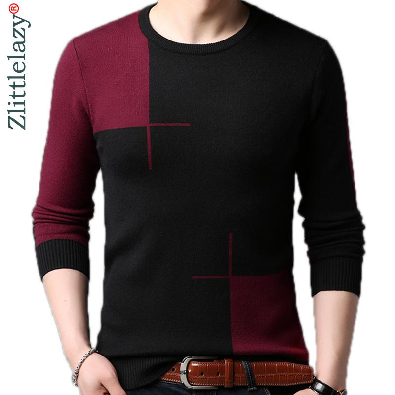 181332f439609a 2018 Male Casual Patchwork Autumn Winter Warm Pullover Men Sweater ...