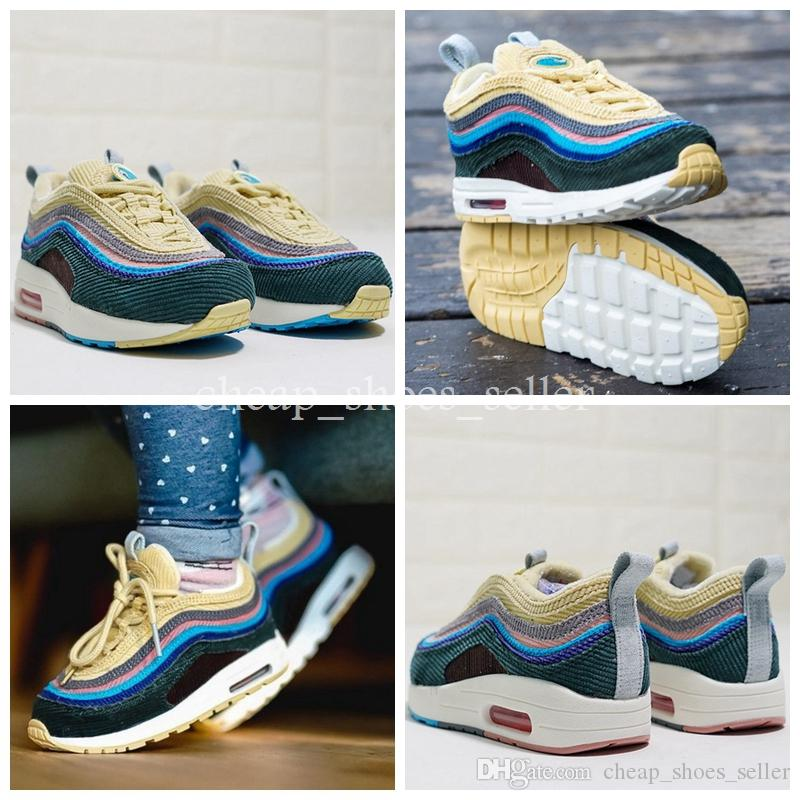 7267825e90e7 2019 2019 New Kids 97 Sean Wotherspoon 1 97 VF SW Hybrid Baby Shoe Big Boys  Girls Runner Children Casual Athletic Shoes Eur 28 35 From  Cheap shoes seller