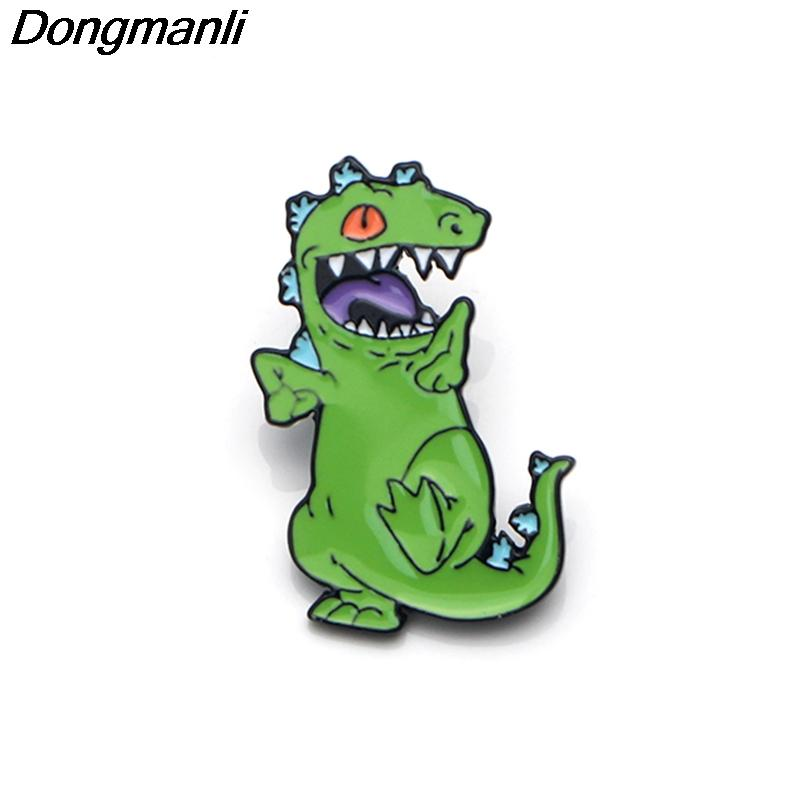 P3555 Dongmanli Rugrats Dinosaur Metal Enamel Pins and Brooches for Fashion  Lapel Pin Backpack Bags Badge Gifts