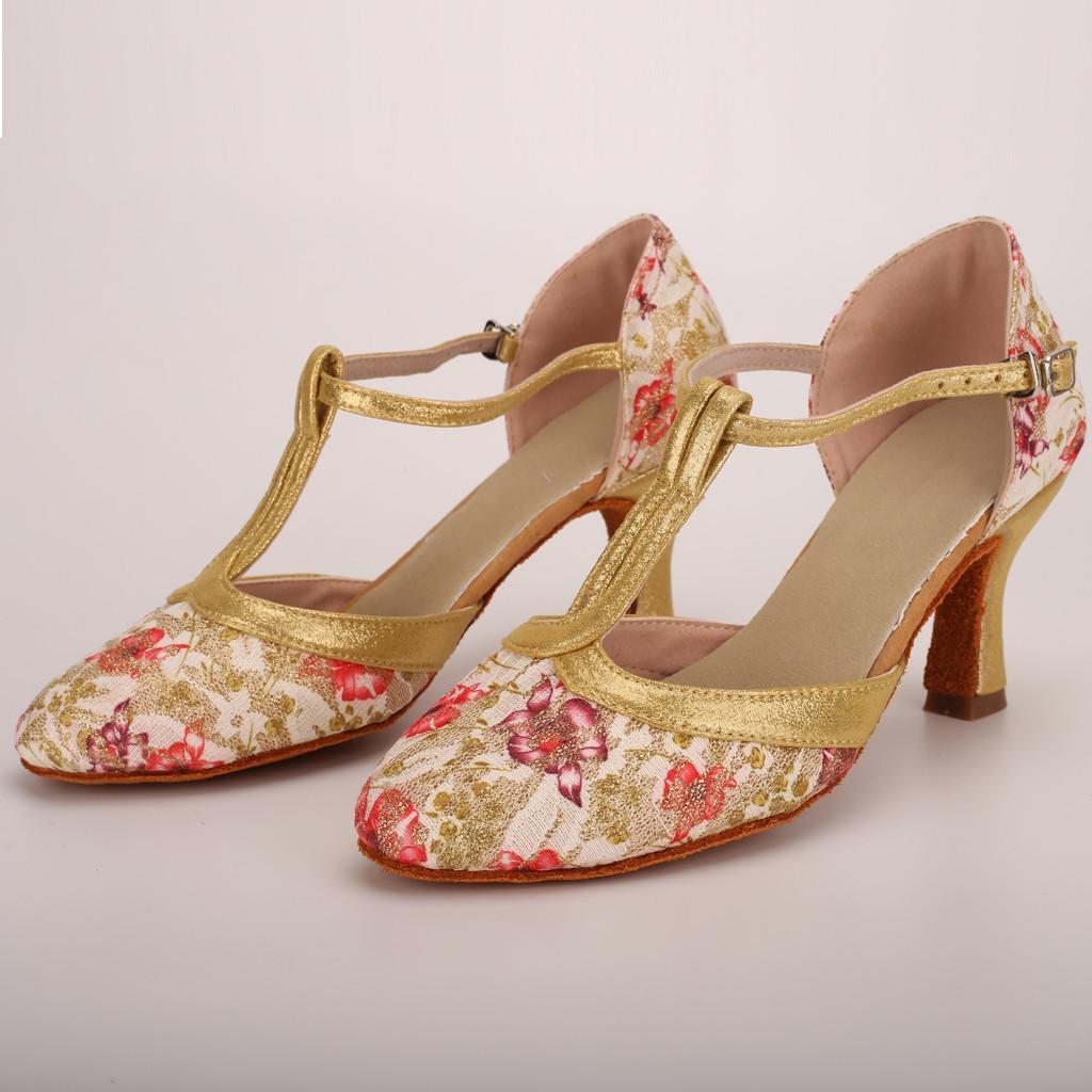01bebb453 Compre Sapatos De Vestido Das Mulheres Sandálias Primavera Verão Senhoras  Dança Rumba Valsa Baile De Formatura Latina Salsa Dança Moda Sandalias De  Salto ...