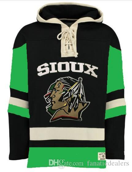 2019 North Dakota Fighting Sioux Hoodie Custom Any Name Any Number Stitched  Men Ice Hockey Jersey Hoodie Sweatshirt S 4XL From Fanaticdealers 701db3c4b