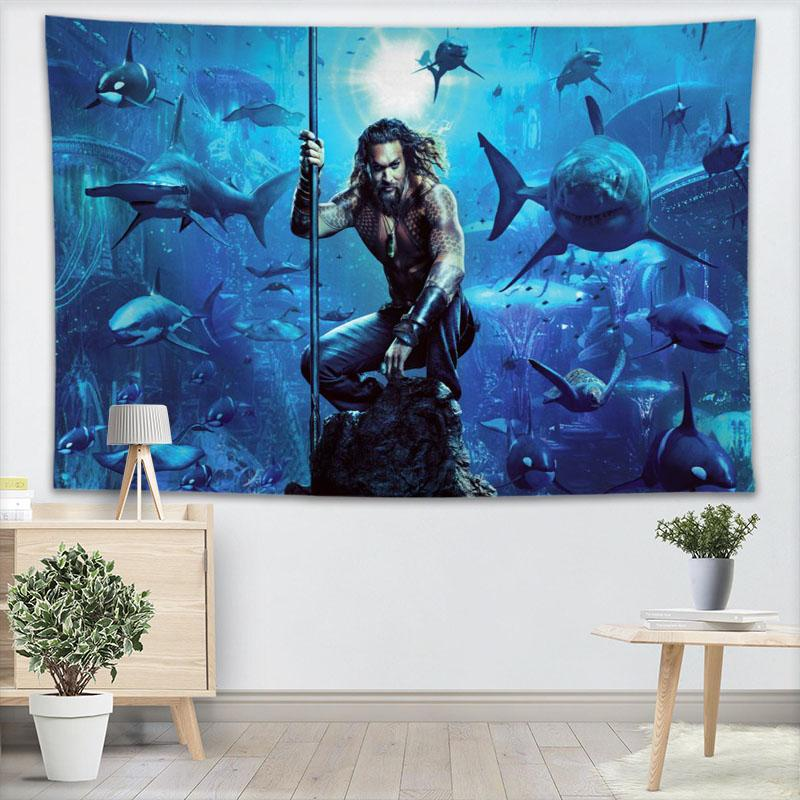 Custom Aquaman Wall Tapestry Home Decorations Wall Hanging Forest