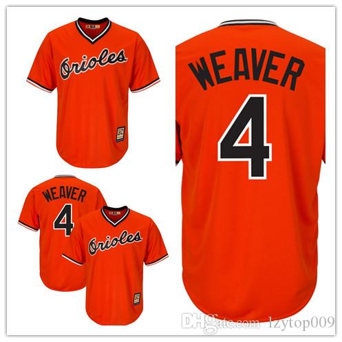a30289365a7 2019 Men S Orioles 4 Earl Weaver Majestic Orange Cool Base Cooperstown  Player Baltimore Jersey From Lzytop009