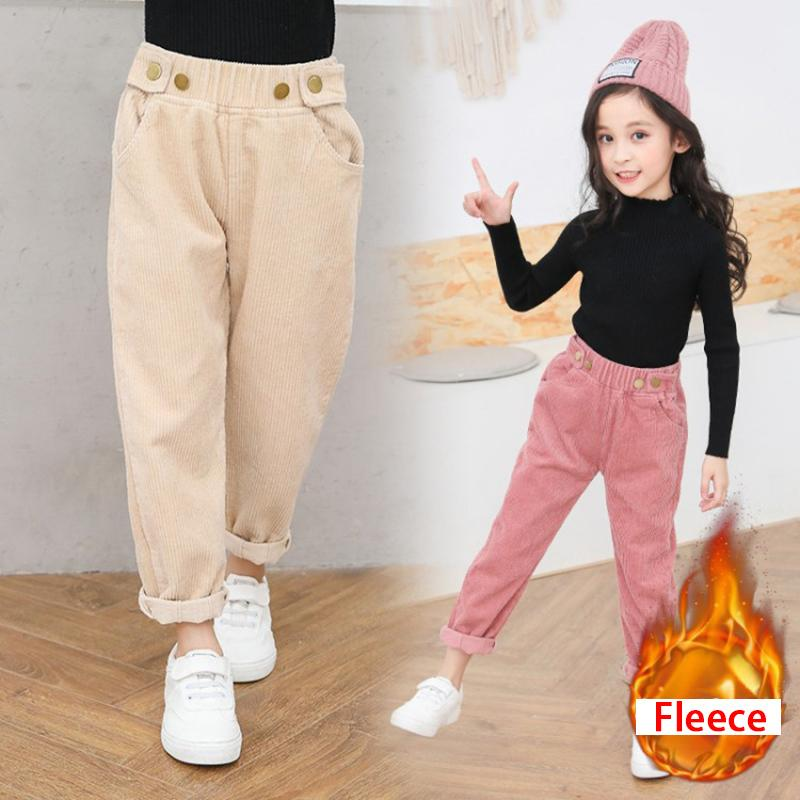 Kids Corduroy Pants Autumn Winter Girls Clothes Warm Children Long Trousers  For Teenagers Casual Girl Thick Pants Size 6 8 12 Boys Size 16 Cargo Pants  ... e2822113abca