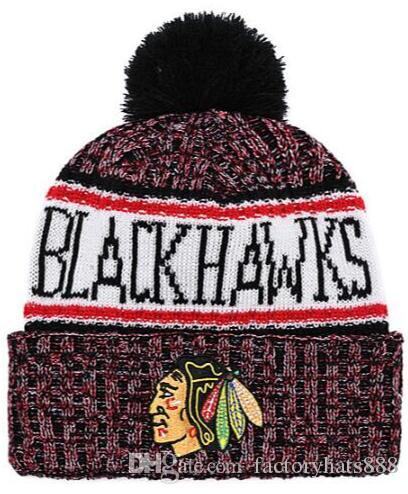 2019 Unisex Autumn Winter Hat CHICAGO Sport Knit Hat Custom Knitted ... 3d8752ce1
