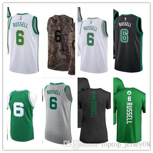 SPORT Basketball Wear Youth women Men s Boston Celtic 6 Bill Russell ... 76c9b7872