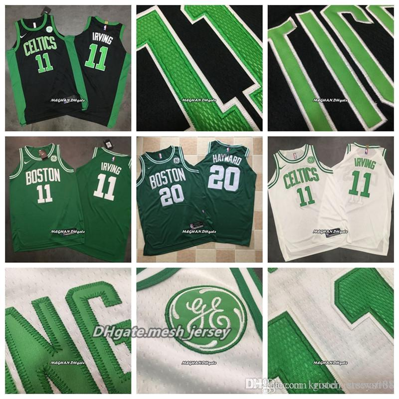 best website 85a09 c6412 2019 Boston Men Dense Basketball 11 Irving Jerseys 20 Hayward Dense AU Mesh  Fabric Jerseys - Black Green White