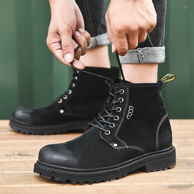 14cab244c 2019 Winter Boots Men Keep Warm Fashion Suede Leather Men Boots ...