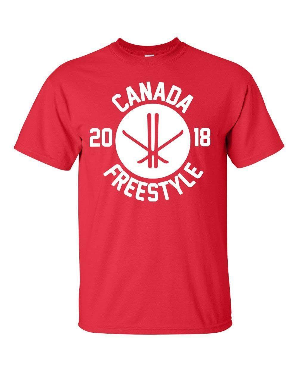 415b1819 Canada Skiing Free Style Olympics Winter Men'S Tee Shirt 1740 Shirt ...