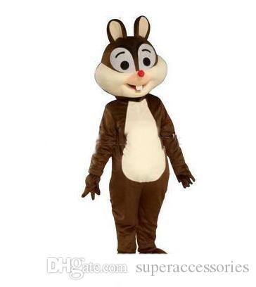 2019 Factory Outlets hot Squirrel mascot costume squirrel mascotter cartoon fancy dress costume Halloween Fancy Dress Christmas for Party Ev