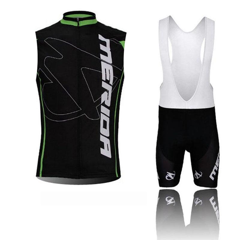 MERIDA Team Cycling Sleeveless jersey Vest bib shorts sets Summer mens Outdoor Mountain Bike wear Sports Clothing C61068