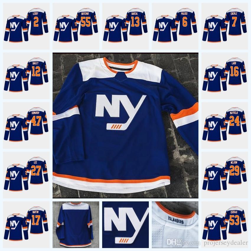 9ff5bf89f 2019 Youth Mathew Barzal New York Islanders Third Jersey 47 Leo Komarov 27 Anders  Lee 2 Nick Leddy 53 Casey Cizikas 17 Matt Martin From Projerseydealer