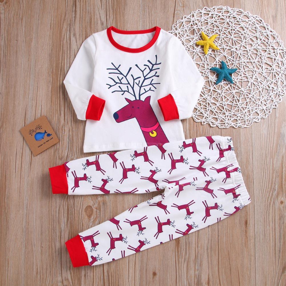 274068868 2019 Good Quality Baby Girls Boys Clothes Set Reineer Top+Pants ...