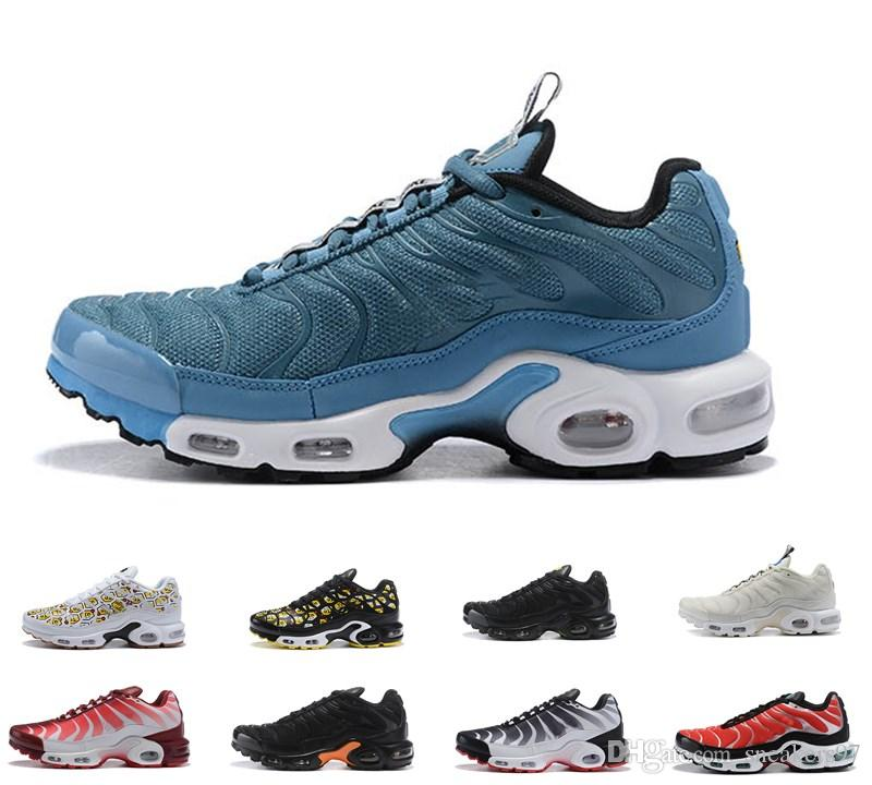 547635de40a 2019 2019 New TN Men Running Shoes Tns Plus Airs Fashion Increased  Ventilation Athletic Shoe Casual Trainers Olive Blue Black Mens Sneakers 40  46 From ...